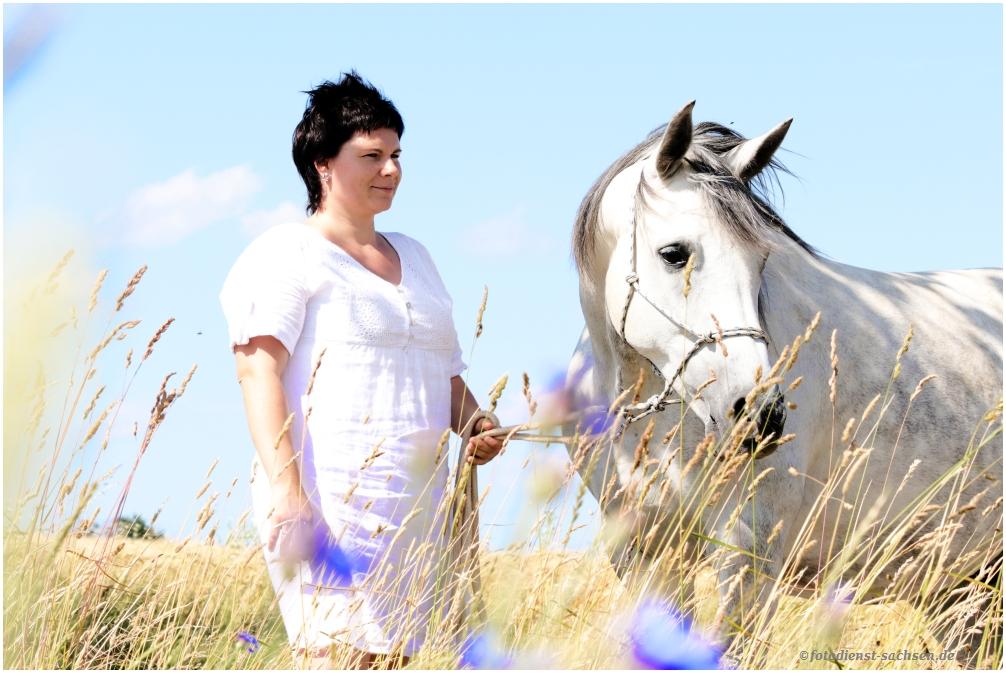 Katrin mit ihrem Pferd